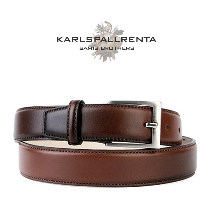 -K.S- 84210 italy real leather 리얼태닝 클래식 벨트 (Light Brown)