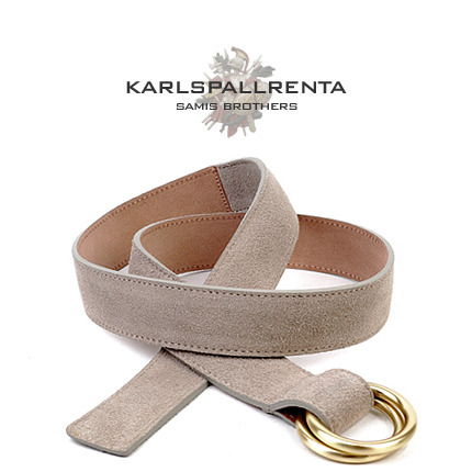 -K.S- 88741 italy real leather 스웨이드 캐주얼 벨트 (Light Beige)