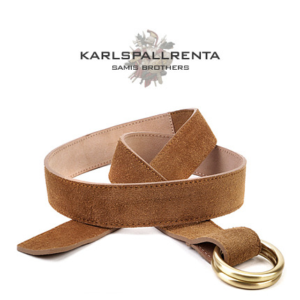 -K.S- 88743 italy real leather 스웨이드 캐주얼 벨트 (Brown)