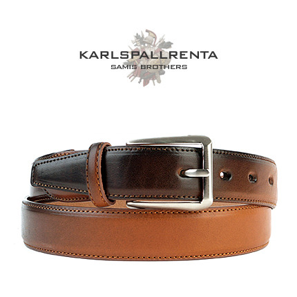 -K.S- 88774 italy real leather 리얼태닝 캐쥬얼 벨트 (Tan)