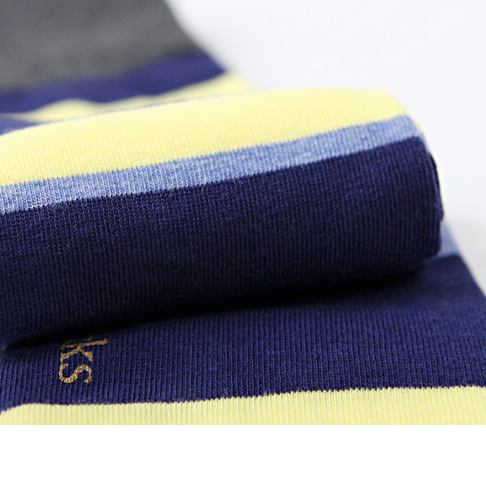 -La:on-95357 Multi Stripe Socks (4Color)