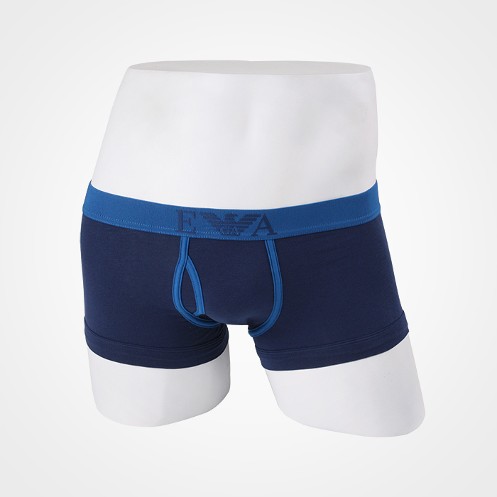 -EMPORIO ARMANI- 88695 Strech Cotton Trunk (Blue Line)