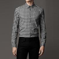 83242 PR 프리미엄 체크 셔츠 (Black)