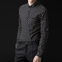 83245 PR 프리미엄 포켓 도트 셔츠 (Black)