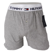 -Tommy Hilfiger- 88163 Knit Boxer (Gray)