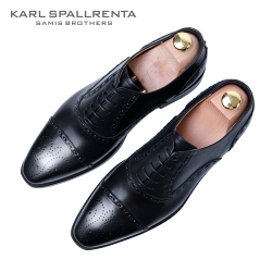 - KARL SPALLRENTA - 93230 레이스업 프리미엄 슈즈 (Black)
