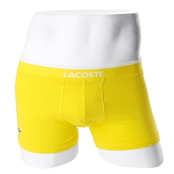 -LACOSTE- 93572 Stretch Cotton Boxer Trunk (Yellow)