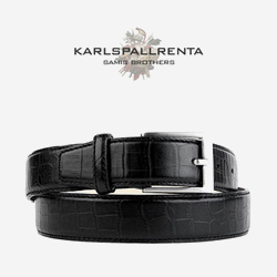 -K.S- 84212 italy real leather 크로커 리얼태닝 클래식 벨트 (Black)