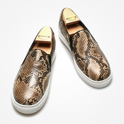 94661 Premium FA-186 Slip on Shoes (Brown Snake)