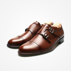 94782 Premium FA-192 Monk strap Shoes (3Color)