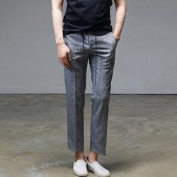 95163 미니멀 로프밴딩 베이직 슬랙스 팬츠 (Gray)