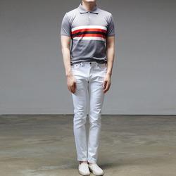 95219 프론트 타이니 단가라 PK카라 티셔츠 (3Color)