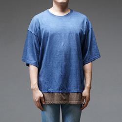 95283 YE 레이어드 하프슬리브 티셔츠 (2Color)