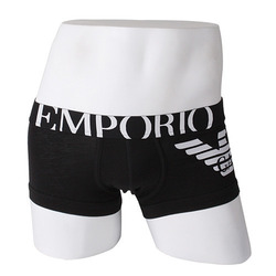 -EMPORIO ARMANI- 80323 Eagle Strech Cotton Trunk (Black)