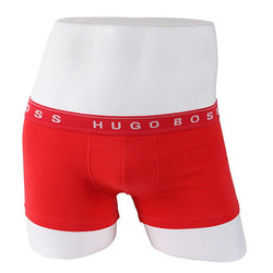 -HUGO BOSS- 87922 Cotton Boxer Shorts Trunk (Red)