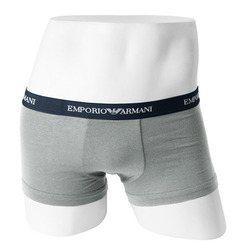 -EMPORIO ARMANI- 92447 Stretch Cotton Trunk Brief 111210 (Gray Blue)