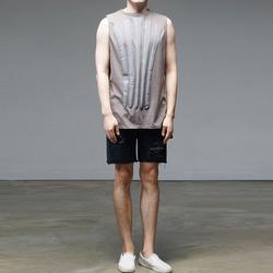 95691 코트웨일러 발포나염 슬리브리스 티셔츠 (3Color)